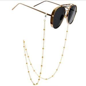 NWT fashion ball chain Gold Sunglasses Chain
